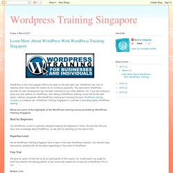 Learn More About WordPress With WordPress Training Singapore