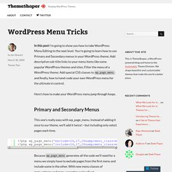 WordPress Menu Tricks – ThemeShaper