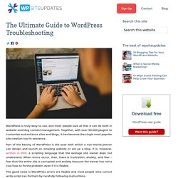 The Ultimate Guide to WordPress Troubleshooting - WP Site Updates