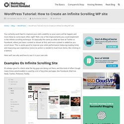 WordPress Tutorial: How to Create Infinite Scrolling On WordPress