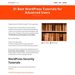 31 Best WordPress Tutorials for Advanced Users