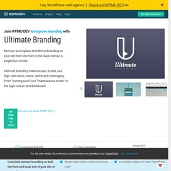 WordPress Ultimate Branding Plugin