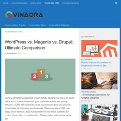 Wordpress vs. Magento vs. Drupal: Ultimate Comparison - VINAORA