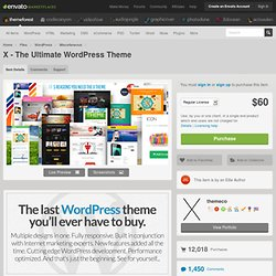 X - The Ultimate WordPress Theme