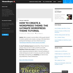 How To Create a WordPress Theme