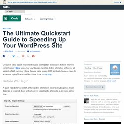 Speed up your WordPress site the right way with this ultimate guide