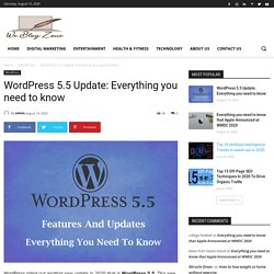 WordPress 5.5 Update: Everything you need to know