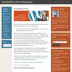 Using WordPress with the Blogmistress