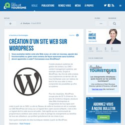Création d'un site Web sur WordPress - Veilletourisme.ca