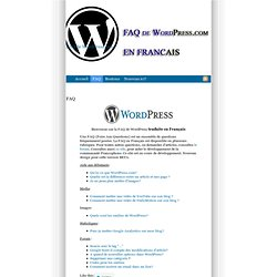 faq de wordpress en français