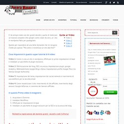 Guadagnare con un Blog - Guarda questo tutorial di 4 videoPecoramannara.com