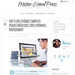 Thèmes WordPress pour sites vitrines simples