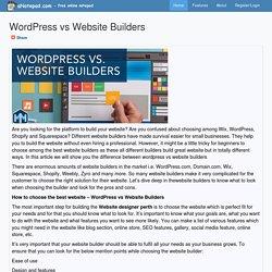 WordPress vs Website Builders