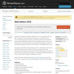 Web Editors CMS