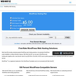 WordPress Web Hosting by Web Host EZ @ $5.00/mo