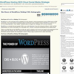 The Power of WordPress Weblog CMS #infographic