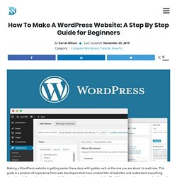 How To Make A WordPress Website: A Step By Step Guide for Beginners