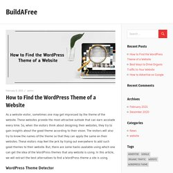 How to Find the WordPress Theme of a Website – BuildAFree
