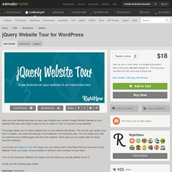 Plugins - jQuery Website Tour for WordPress