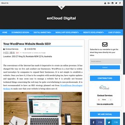 Your WordPress Website Needs SEO! - Digital enCloud