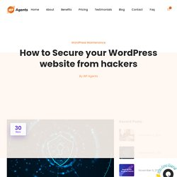 How to Secure your WordPress website from hackers