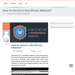 How to Secure a WordPress Website? - Managed Hosting UK