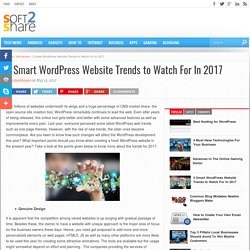 3 Smart WordPress Website Trends to Watch For In 2017