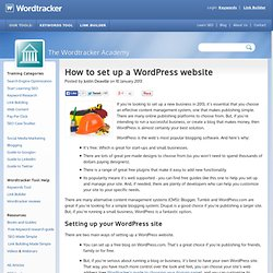 How to set up a WordPress website