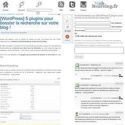 [Wordpress] 5 plugins pour booster la recherche sur votre blog !