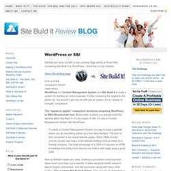 WordPress or SBI - Which Is Better? | Site Build It Review Blog