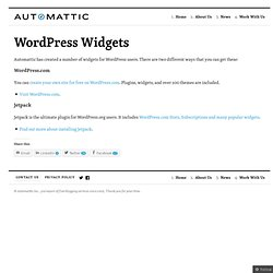 WordPressWidgets « Automattic