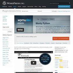 Wiki « WordPress Plugins