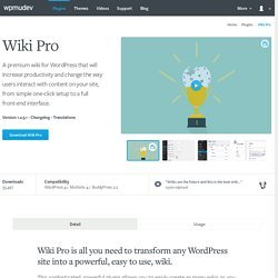 WordPress Wiki Plugin
