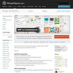 WP e-Commerce « WordPress Plugins (Build 20120215223356)