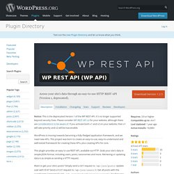 JSON REST API (WP API)