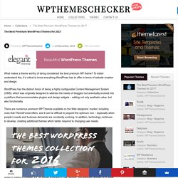 The Best Premium WordPress Themes for 2017 - WpThemesChecker