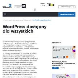 WordPress dostępny dla wszystkich - Fundacja Widzialni