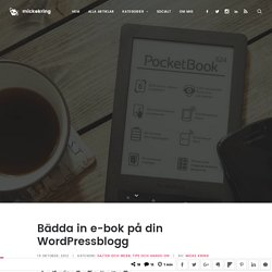 Bädda in e-bok på din WordPressblogg