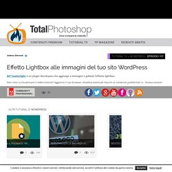 Effetto Lightbox alle immagini del tuo sito WordPressTotal Photoshop - Il primo sito di Video tutorial in Italiano su Photoshop, Fotografia, Illustrator, Premiere, After Effects, Dreamweaver e WordPress - Total Photoshop - Il primo sito di Video tutorial