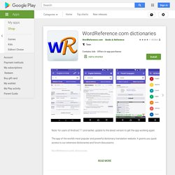 WordReference.com dictionaries - Apps on Google Play
