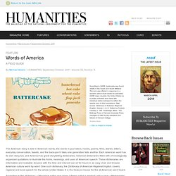 HUMANITIES Magazine: September/October 2011: Words of America: A Field Guide