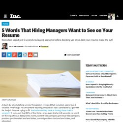 5 Words That Hiring Managers Want to See on Your Resume