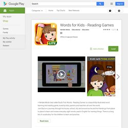 Words for Kids - Reading Games