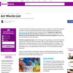Art Words List and Critique Terms Bank