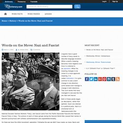 Words on the Move: Nazi and Fascist