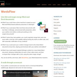 WordsFlow » Em Software