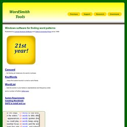 WordSmith Tools home page