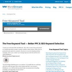 s Free Keyword Tool
