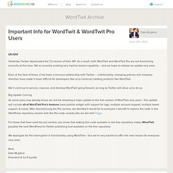 WordTwit Wordpress Plugin ↔ BraveNewCode Inc.