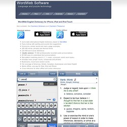 WordWeb iPhone Dictionary and Thesaurus